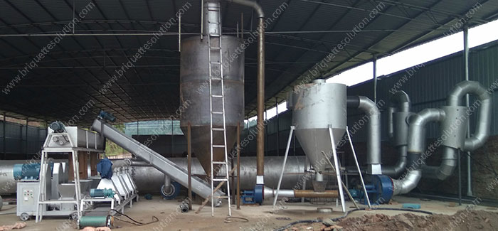 air flow dryer in briquette line