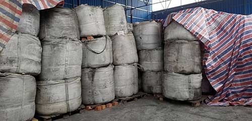 aluminum slag briquette packed in bags