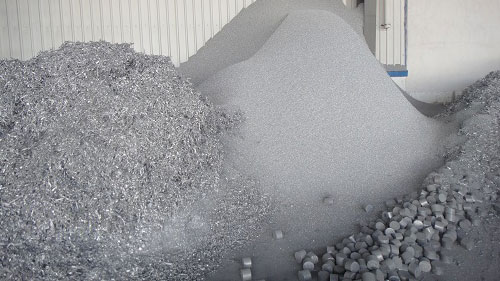 aluminum waste in storage