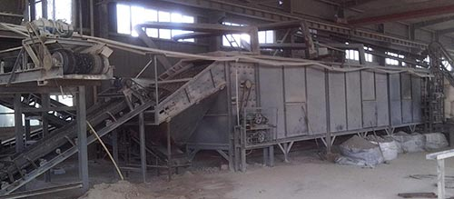 belt dryer is using in the sludge briquette plant