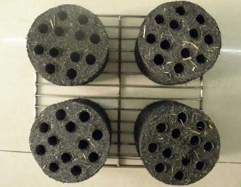 honeycomb briquette raw material contains some biomass