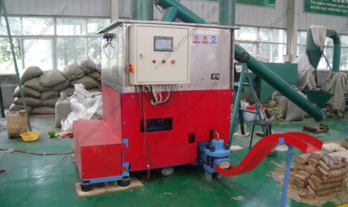 sawdust brick making machine show