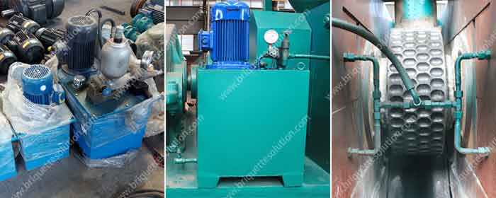 hydraulic system for briquette machine