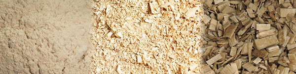 sawdust and wood chips