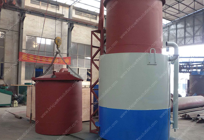carbonization furnace hoist and gasket
