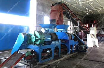 two sets roller briquette machine