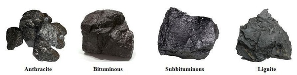 different coal types