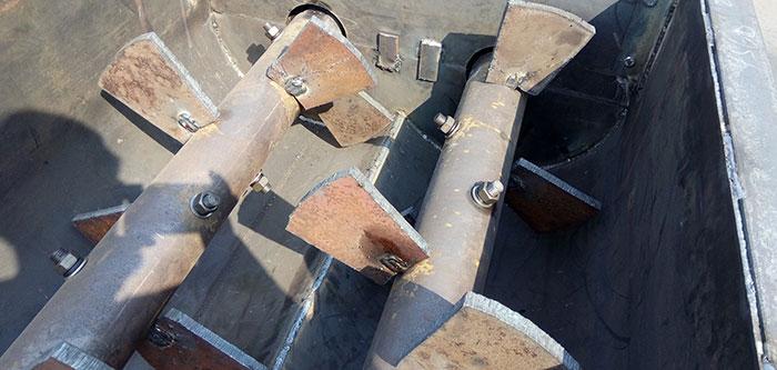 double shaft mixer paddle