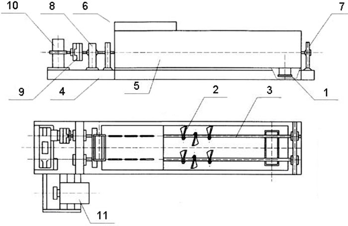 double shaft mixer structure