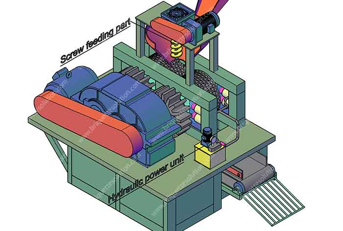 dry powder briquette machine structure