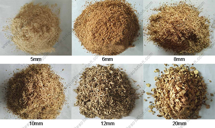 final sawdust with different sizes