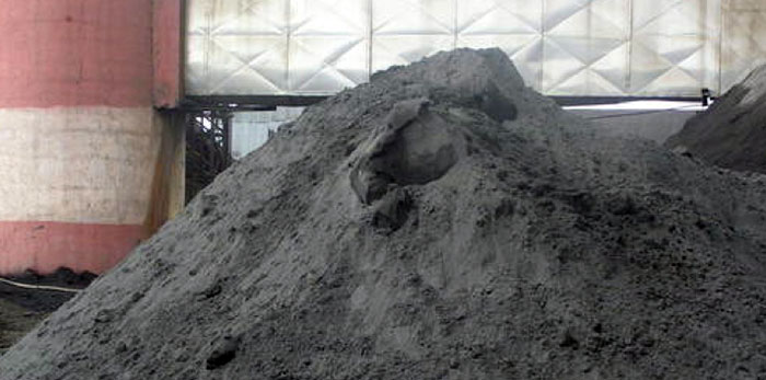 fly ash from dust collector in steel plant