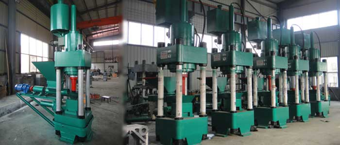 hydraulic metal scrap briquette machine show