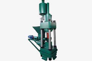 green color hydrualic briquette machine with screw feeder
