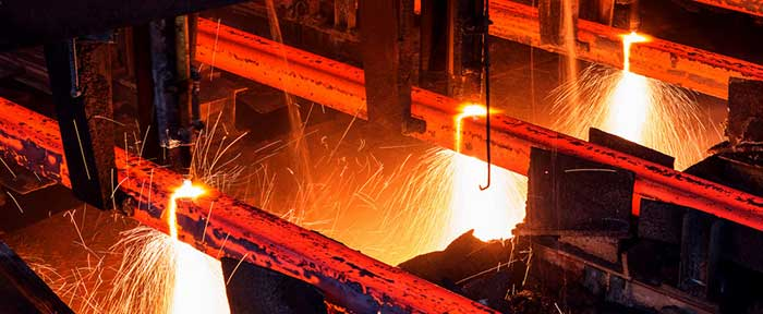steelmaking plant produce steel