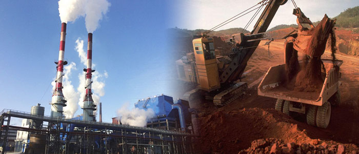 steel plant and mineral mining
