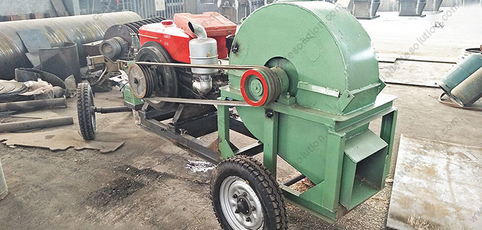 mobile type wood crusher with diesel motor