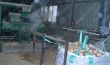producing sawdust briquette