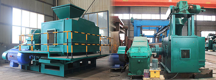 two types of roller briquette press machines