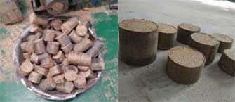 round shape briquette