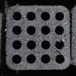 square shape honeycomb briquette