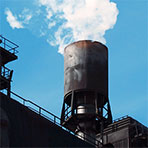 steel plant chimney exhaust emissions