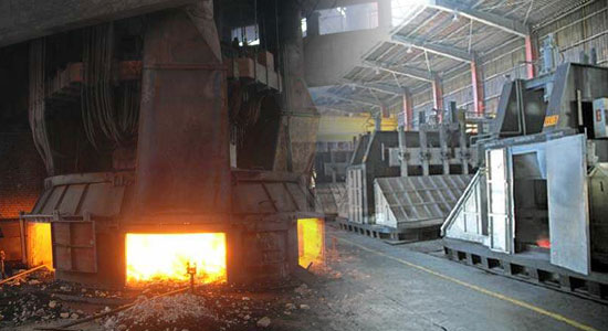 submerged arc furnace and the electrolytic aluminum factory