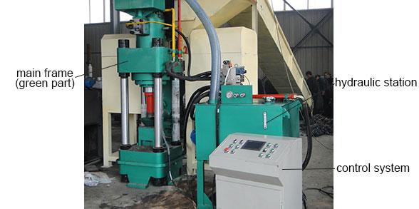 aluminum briquette machine structure