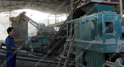 compacting machine and gypsum briquette machine