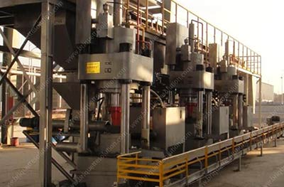hydraulic briquette line for DRI-2