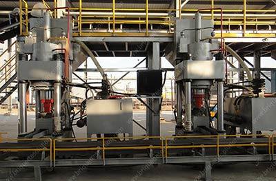 hydraulic briquette line for DRI-1
