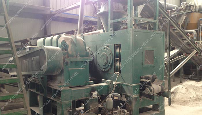 the hydraulic roller briquette press machine