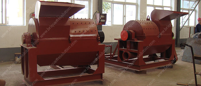 unpainted wood crusher in workshop